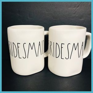 RAE DUNN TWO BRIDESMAID MUGS ** SEE PICTURES **